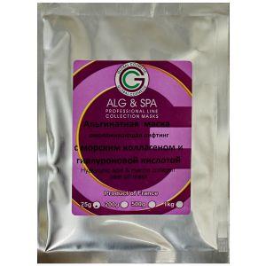 Гиалуроновая кислота и коллаген, 25гр -  ALG & SPA Hyaluronic Acid & Marine Collagen Peel off Mask 25gr