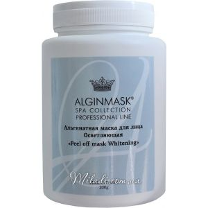 Отбеливающая, 200гр - Elitecosmetic Alginmask Peel off mask Whitening