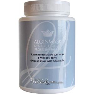 Глина Гассул, 200гр - Elitecosmetic Alginmask Peel off Mask with Ghassoul