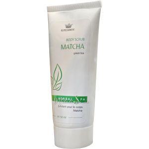 Скраб для тела с зеленым чаем Матча, 150мл - Elitecosmetic Alginmask Body Scrub with Matcha Green Tea