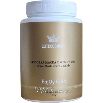 Золотая с жемчугом, 200гр - Elitecosmetic Alginmask Fase Mask Pearl & Gold