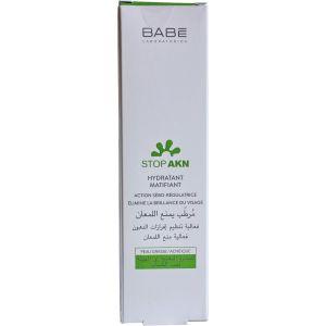 Крем матирующий увлажняющий для жирной кожи лица - Babe Laboratorios Stop AKN Mattifying Moisturiser