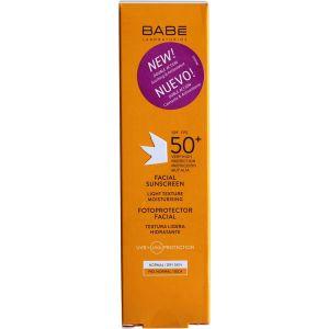 Крем солнцезащитный для лица SPF 50+ - Babe Laboratorios Fotoprotector Facial Sunscreen SPF 50+