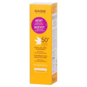 Солнцезащитный крем для жирной кожи, 50мл - Babe Laboratorios Fotoprotector Facial Oil-free Sunscreen SPF50+