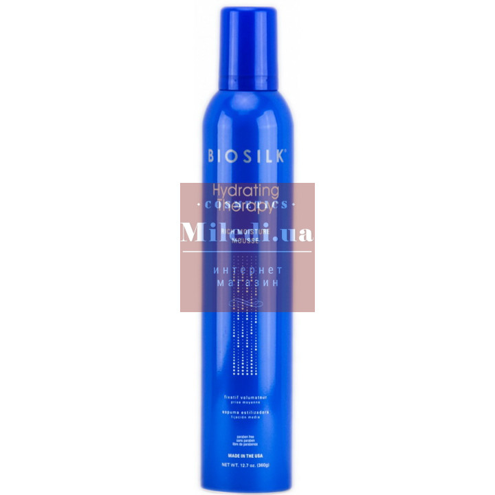 Мусс для укладки волос Увлажняющая терапия - BioSilk Hydrating Therapy Rich Moisture Mousse