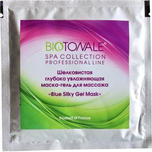 Массажная маска-гель, 20гр - Biotonale Blue Silky Gel Mask