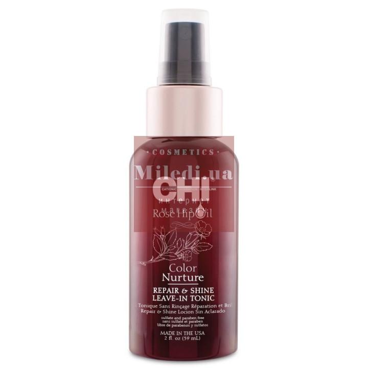 Спрей-тоник несмываемый для восстановления и придания блеска волосам - CHI Rose Hip Oil Repair & Shine Leave-In Tonic