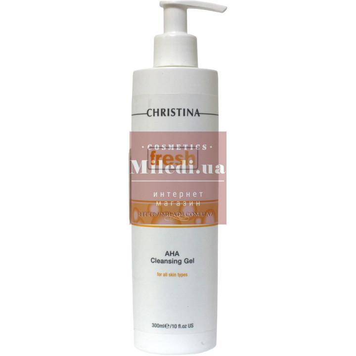 Гель-мыло очищающее с альфагидроксильными кислотами -  Christina Fresh AHA Cleansing Gel For All Skin Type
