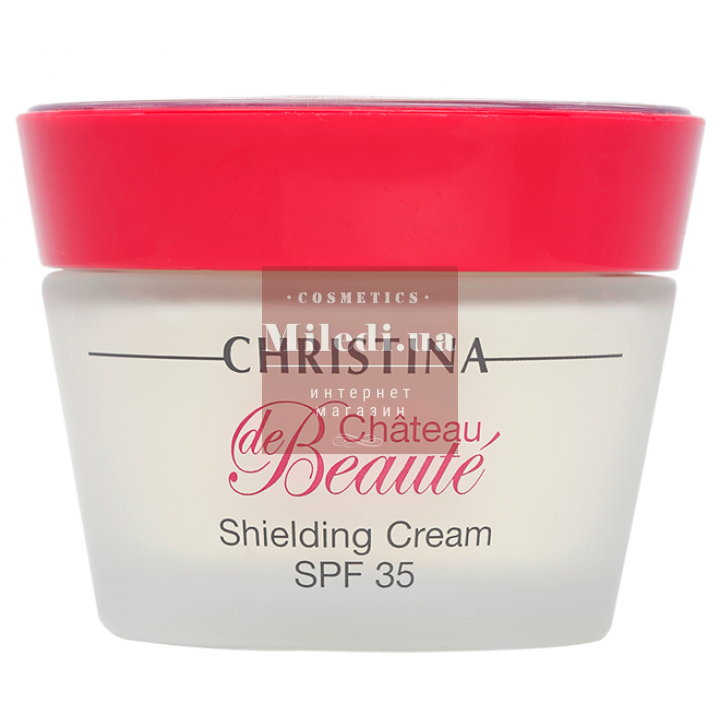 Крем защитный увлажняющий для лица - Christina Chateau de Beaute Shielding Cream SPF35