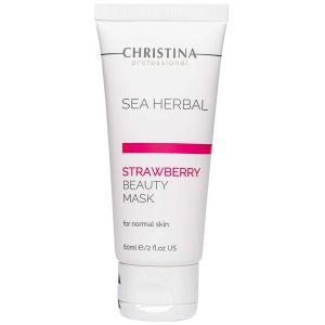 Клубничная маска красоты, 60мл - Christina Sea Herbal Beauty Mask Strawberry Normal Skin