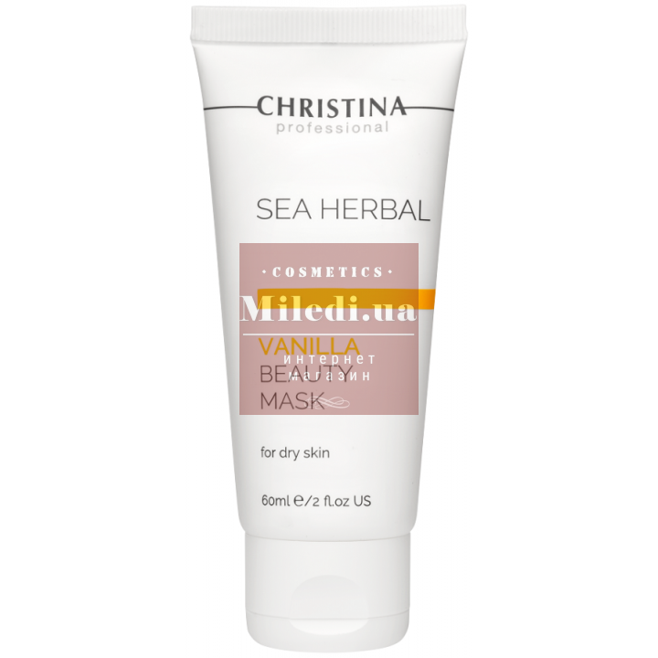 Маска красоты «Ванильная» для сухой кожи лица - Christina Sea Herbal Beauty Mask Vanilla Dry Skin, 60мл