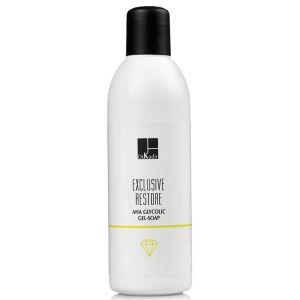 Гликолевое гель-мыло с AHA-кислотами, 200мл - Dr. Kadir Exclusive Restore AHA Glycolic Gel-Soap
