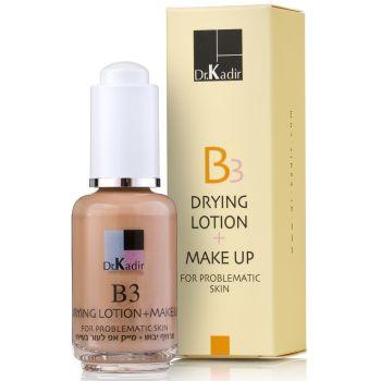 Эмульсия тонирующая подсушивающая для проблемной кожи - Dr. Kadir B3 Drying Lotion + Make Up For Problematic Skin