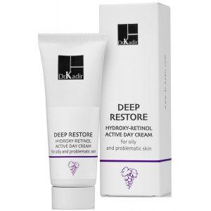 Дневной крем для жирной проблемной кожи (Др Кадир) - Dr. Kadir Deep Restore Hydroxy Retinol Day Cream For Oily Skin