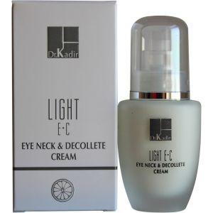 Крем для кожи вокруг глаз и шеи c витаминами Е и С (Доктор Кадир) - Dr. Kadir Light E+C Eye Neck & Decollete Cream