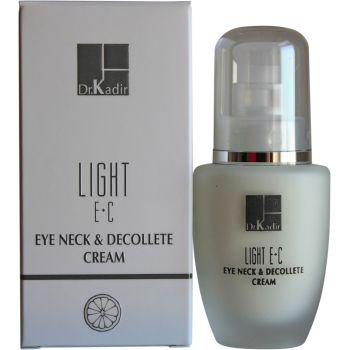 Крем для кожи вокруг глаз и шеи c витаминами Е и С, 30мл - Dr. Kadir Light E+C Eye Neck & Decollete Cream