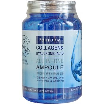 Сыворотка с коллагеном и гиалуроновой кислотой, 250мл - FarmStay Collagen & Hyaluronic Acid All-in-One Ampoule