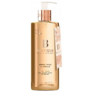 Жидкое мыло Амбра, мускус и ваниль, 500мл - Grace Cole Boutique Amber, Musk & Vanilla Hand Wash
