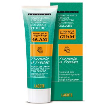 Гель антицеллюлитный подтягивающий для тела Холодная формула - Guam Crema Gel ai Fanghi d'Alga Formula a Freddo