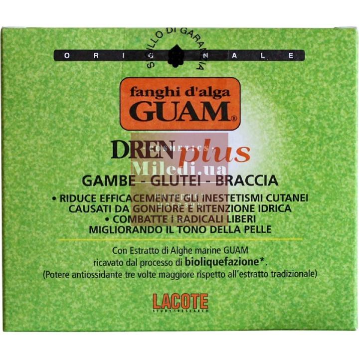 Маска антицеллюлитная из морских водорослей с дренажным эффектом - Guam Fanghi d'Alga Dren Plus