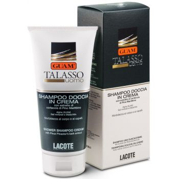 Соль-гель кремообразный для волос и тела - Guam Talasso Uomo Shampoo Doccia In Crema