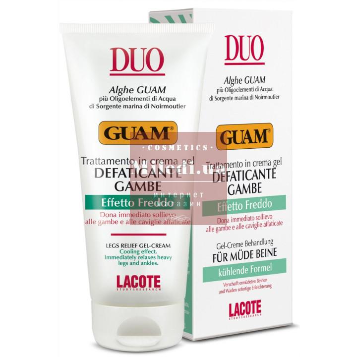 Гель для ног тонизирующий - Guam Duo Trattamento In Crema Gel Defaticante Gambe Effetto Freddo