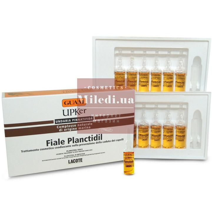 Концентрат в ампулах для предотвращения выпадения волос - Guam UPKer Fiale Planctidil, 12шт