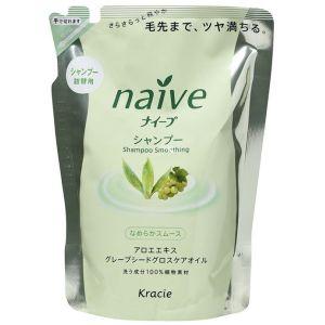 Восстанавливающий шампунь с экстрактом алоэ и маслом виноградных косточек (сменная упаковка) - Kracie Naive Shampoo