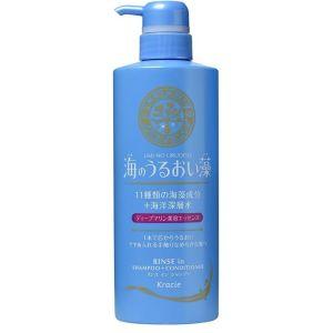 Шампунь-ополаскиватель с экстрактами морских водорослей и минералами - Kracie Umi no Uruoiso Shampoo + Conditioner