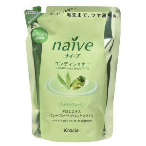 Восстанавливающий бальзам-ополаскиватель для волос с экстрактом алоэ (сменная упаковка) - Kracie Naive Conditioner