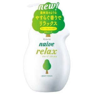 Жидкое мыло для тела с расслабляющим ароматом зелени и цветов (Краси) - Kracie Naive Body Wash Relax