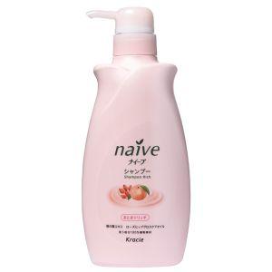 Восстанавливающий шампунь для сухих волос с экстрактом персика и маслом шиповника (Краси) - Kracie Naive Rich Shampoo