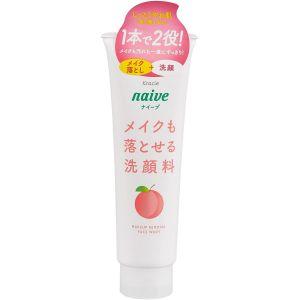 Пенка для умывания и снятия макияжа с экстрактом листьев персикового дерева - Kracie Naive Makeup Removal Face Wash