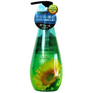 Шампунь для объема поврежденных волос, 500мл - Kracie Dear Beaute Himawari Volume & Repair Oil-in Shampoo