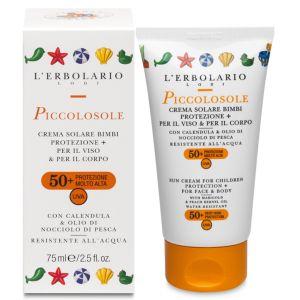 Солнцезащитный детский крем SPF50+, 125мл - L`Erbolario Piccolosole Creme Solare Bimbi Protezione