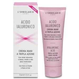 Крем для рук с гиалуроновой кислотой, 75мл - L'Erbolario Crema Mani Acido Ialuronico