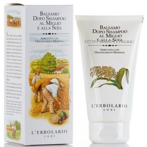 Бальзам для волос на базе проса и сои, 150мл - L`Erbolario Вalsamo Dopo Shampoo al Miglio e alla Soja