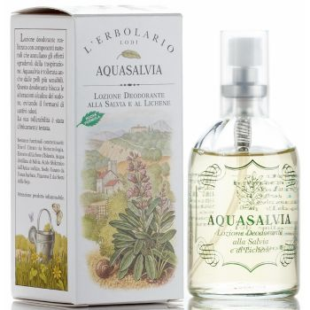 Дезодорант на основе экстракта шалфея, 100мл - L`Erbolario Aquasalvia Lozione Deodorante Alla Salvia e Al Lichene