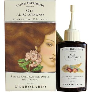 Гель для волос красящий с каштаном Светло-каштановый - L`Erbolario Gel Al Castagno
