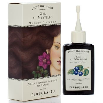 Гель для волос красящий с черникой Красное дерево - L`Erbolario Gel Al Mirtillo