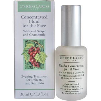 Концентрат с черным виноградом и ромашкой (Лерболарио) - L`Erbolario Fluido concentrato Viso Vite Rossa & Camomilla