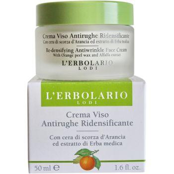 Антивозрастной крем с апельсином и экстрактом люцерны Упругая кожа без морщин (Лерболарио) - L`Erbolario Crema Viso Antirughe