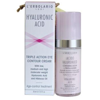 Антивозрастной крем для век с гиалуроновой кислотой (Лерболарио) - L'Erbolario Acido Ialuronico Contorno Occhi