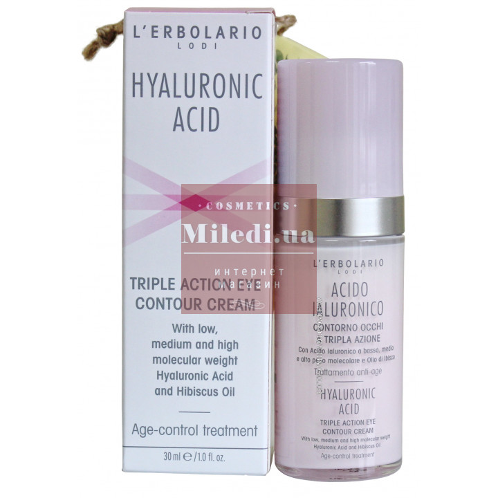 Крем антивозрастной для век с гиалуроновой кислотой - L'Erbolario Acido Ialuronico Contorno Occhi