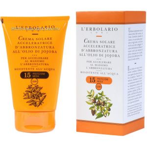 Крем для быстрого загара с маслом жожоба SPF15 - L`Erbolario Crema Solare Acceleratrice d'abbronzatura all'Olio