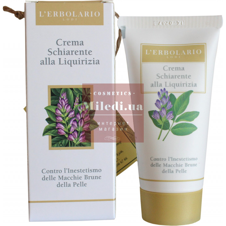 Крем отбеливающий с лакричником - L`Erbolario Crema Schiarente alla Liquirizia