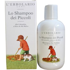 Шампунь детский для волос - L`Erbolario Lo Shampoo dei Piccoli Al Riso & alla Malva