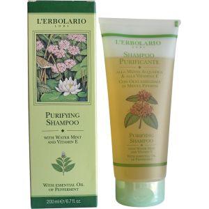 Шампунь для глубокого очищения с мятой и витамином Е (Лерболарио) - L`Erbolario Shampoo Purificante alla Menta & alla Vitamina E