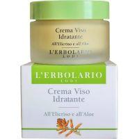 Крем увлажняющий с цмином и алоэ - L`Erbolario Crema Viso idratante all`Elicriso e all`Aloe