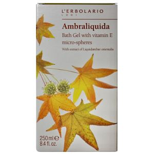 Гель для душа Амбровое дерево, 250мл - L`Erbolario Ambraliquida Bagnogel Microsfere